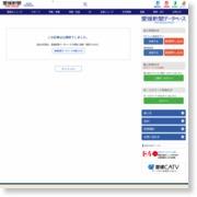 循環バスにサンタ同乗 交通安全グッズ配る 松前 – 愛媛新聞