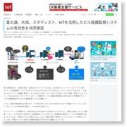 富士通、大成、スタディスト、IoTを活用したビル設備監視システムの有効性を共同実証 – IoTNEWS (プレスリリース)