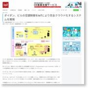 ダイダン、ビルの空調制御をIoTにより完全クラウド化するシステムを開発 – IoTNEWS (プレスリリース)