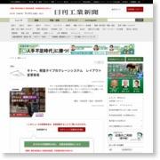 キトー、軽量タイプのクレーンシステム レイアウト変更容易 – 日刊工業新聞